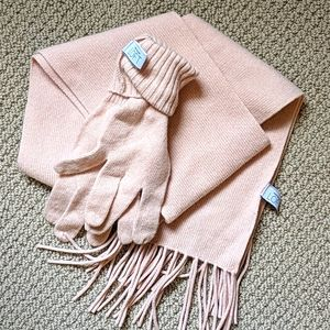 Women's scarf and gloves, LOFT